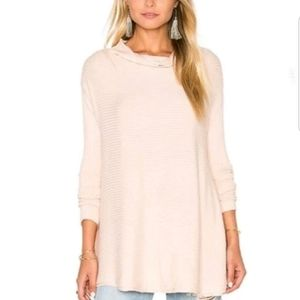 Free People|Lover Cowl Ribbed Pullover Top
